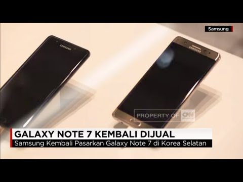 Samsung Galaxy Note 7 Kembali Dijual