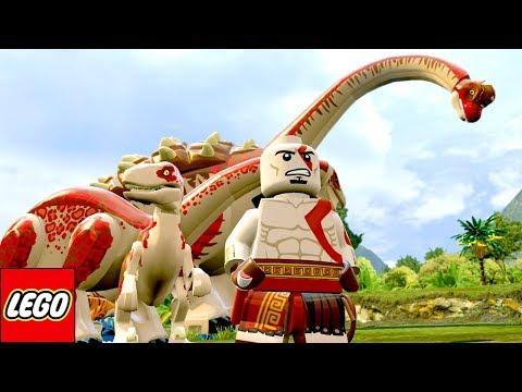 KRATOS DE GOD OF WAR E SEUS DINOSSAUROS (MOD) no LEGO Jurassic World EXTRAS MUNDO ABERTO #41