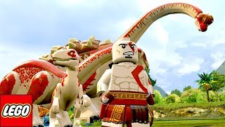 kratos de god of war e seus dinossauros mod no lego jurassic world extras mundo aberto 41