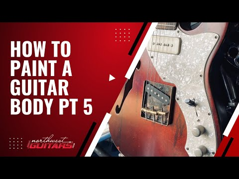How to paint a guitar body in Nitrocellulose Pt 5 - Colour