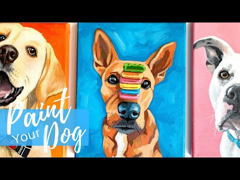 painting-your-dog-in-acrylics-|-easy-beginner-level