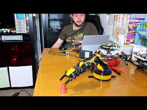 Controlling A Maplin usb Robot arm with Python on windows