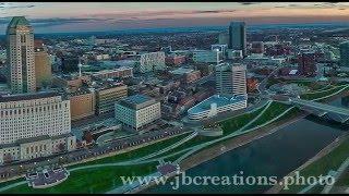 Columbus Night Flight - Beautiful Drone Video of Downtown Skyline
