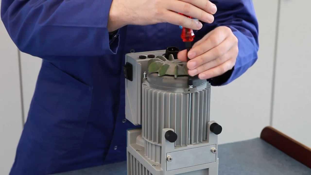 Rotary vane pump replacing shaft seal - VACUUBRAND (EN)