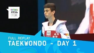 Taekwondo - Day 1 | Full Replay | Nanjing 2014 Youth Olympic Games