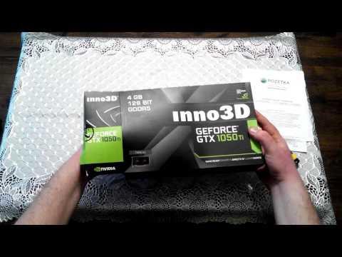 INNO3D PCI-Ex GeForce GTX 1050 TI Twin X2 4GB GDDR5 (128bit) (1290/7000) (DVI, HDMI, DisplayPort) (N105T-1DDV-M5CM)