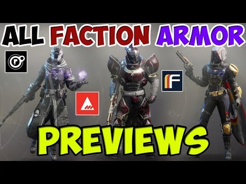 Destiny 2 All Faction Armor Previews - Dead Orbit, Future War Cult, New Monarchy