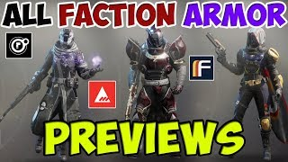 Destiny 2 All Faction Armor Previews - Dead Orbit, Future War Cult, New Monarchy