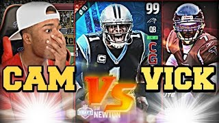 99 Cam Newton Vs 99 Michael Vick! Best Catch in Football History! | Madden 17 Ultimate Team Gameplay