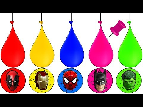 Thumbnail: Paint Balloons Blasting Learning Colors Super Heroes Finger Family Song