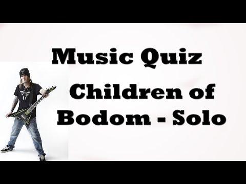 Music Quiz - Children of Bodom's solo