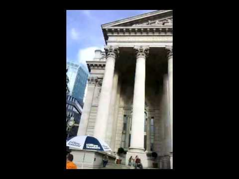 Video in front of the Bank of England (9/10/10). London, England