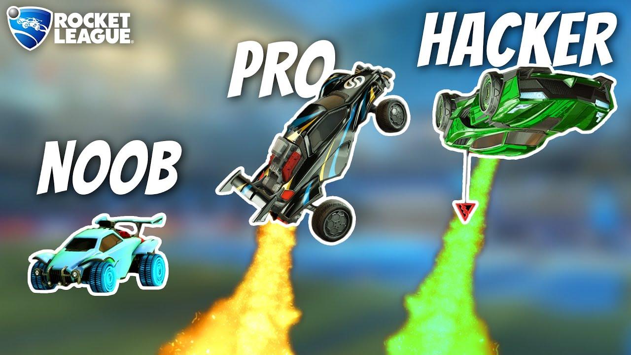 Rocket League NOOB vs PRO vs HACKER