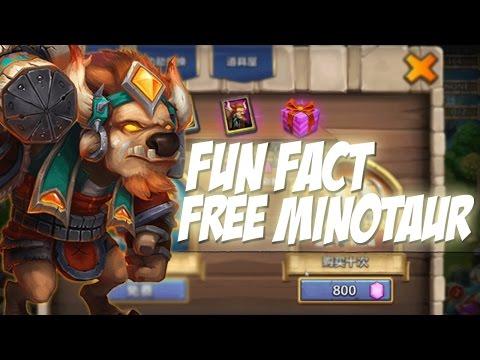 Castle Clash Fun Fact: Free Minotaur!