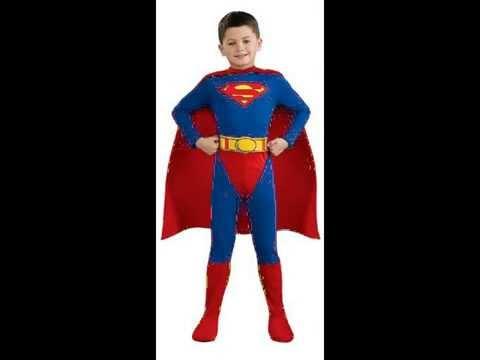 Superman Childu0027s Kids Halloween Costume  sc 1 st  YouTube & Superman Childu0027s Kids Halloween Costume - YouTube