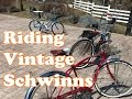 Riding Vintage Schwinn Bikes
