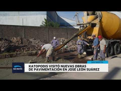 Katopodis visitó nuevas obras de pavimentación en José León Suárez web