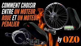 Comment choisir entre un moteur roue ou un moteur pédalier pour vélo électrique