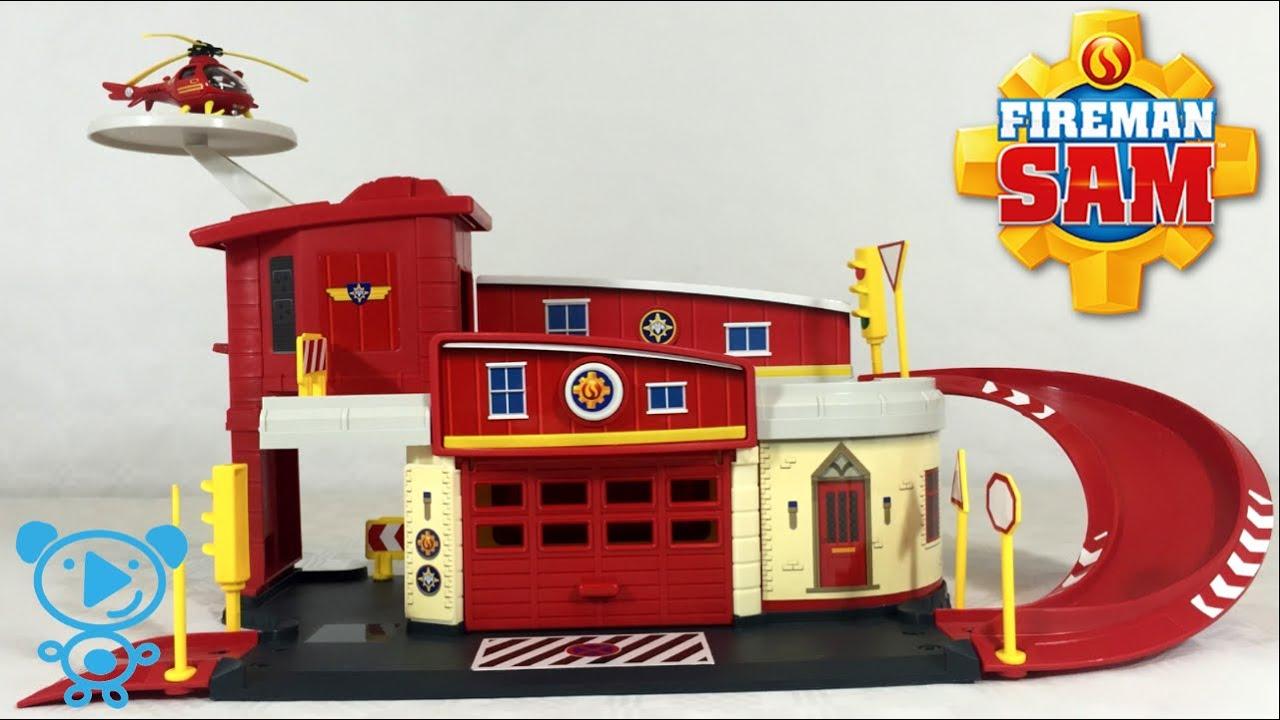 Best Fireman Sam Toys Kids : Fireman sam fire station toys video for children kids
