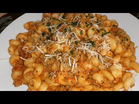 recette-facile-et-rapide-:-pates-à-la-sauces-avec-la-viande-hachée