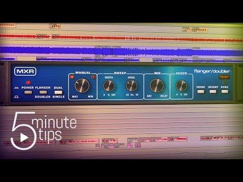 5-Min UAD Tips: MXR Flanger/Doubler Plug-In