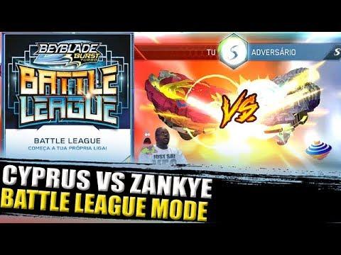 CYPRUS VS ZANKYE BATTLE LEAGUE MODE BEYBLADE BURST TURBO APP