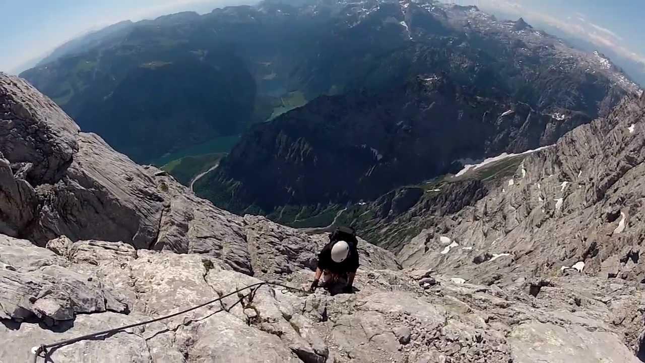 Klettersteig Watzmann : Watzmann klettersteig youtube
