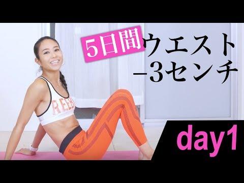 たった5日間でウエストマイナス3センチを目指す【day 1】ワークアウト エクササイズ workout exercises 美コア 山口絵里加