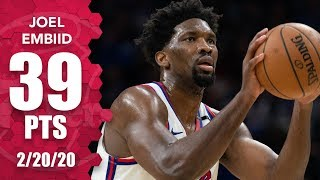 Joel Embiid drops 39 points in Nets vs. 76ers OT game | 2019-20 NBA Highlights