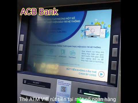 Thẻ VIB rút tiền tại trụ ATM