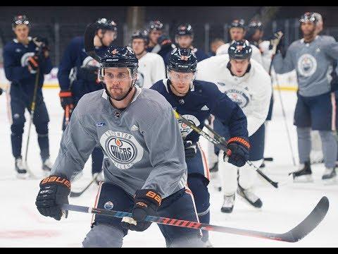 Oilers practice ahead of home opener