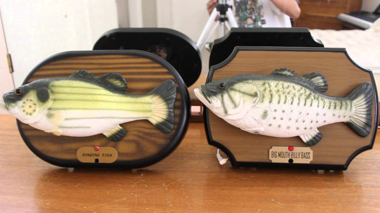 Singing fish and big mouth billy bass sings together for Big mouth billy bass singing fish