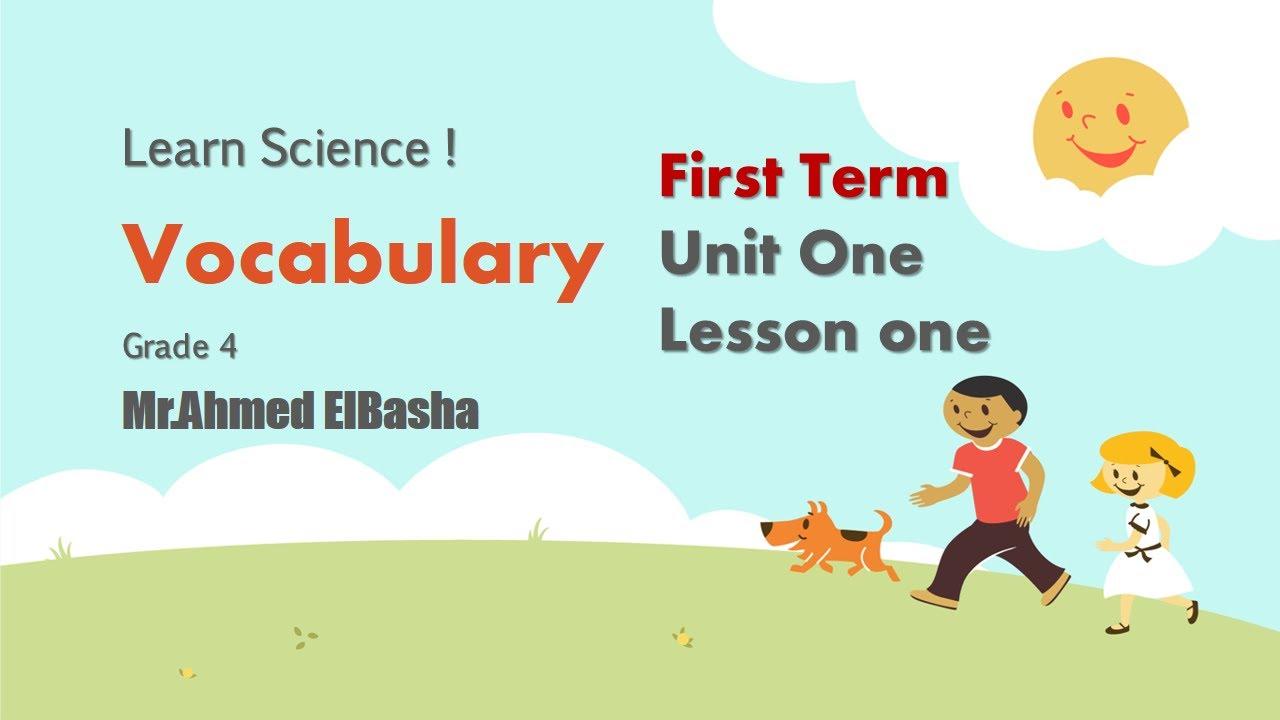 harcourt science grade 4 vocabulary
