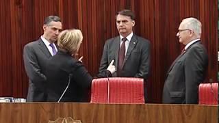 A visita de cortesia foi realizada nesta terça-feira (13). O presidente da República eleito, Jair Bolsonaro, foi recebido pela presidente do TSE, ministra Rosa ...