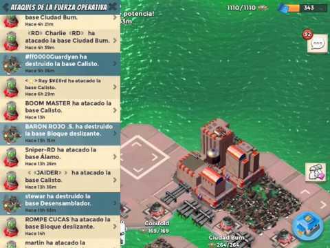 Boom Beach Operación ÚLTIMA LLAMADA Bases Conifold/Desensamblador/Ciudad Bum y Calisto