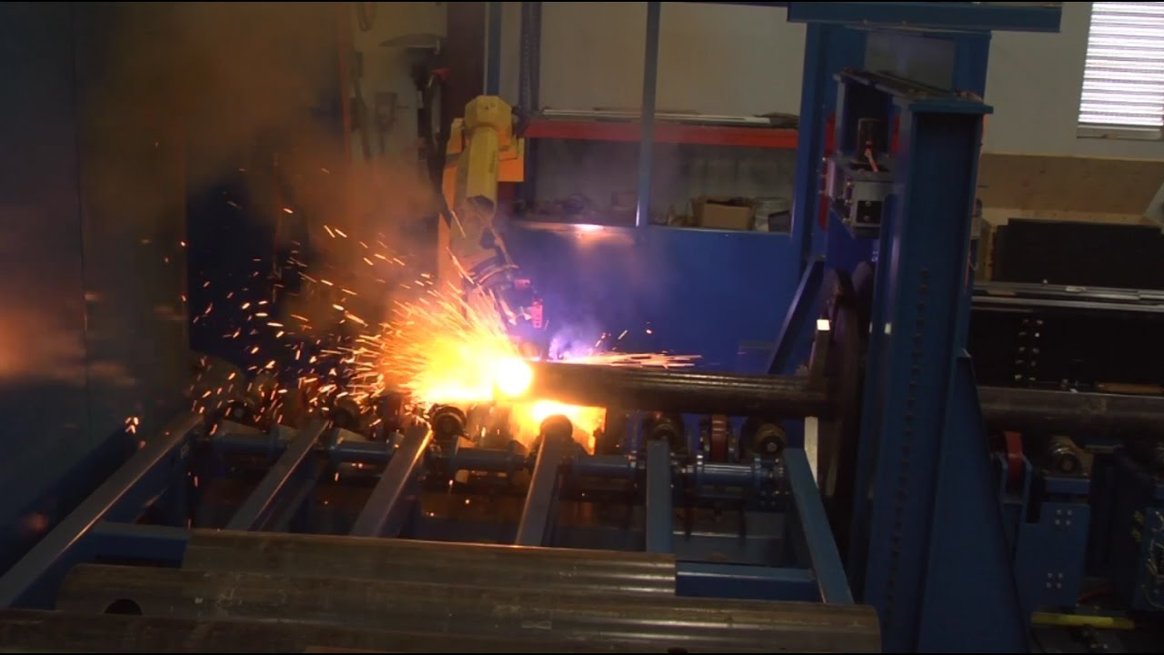 68ced7f0d744 Robotic Plasma Cutting System for Metal Pipe with Automatic Load Unload -  ARC Specialties
