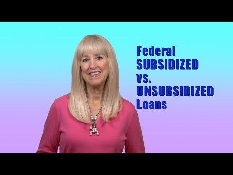Subsidized vs Unsubsidized Federal Student Loans