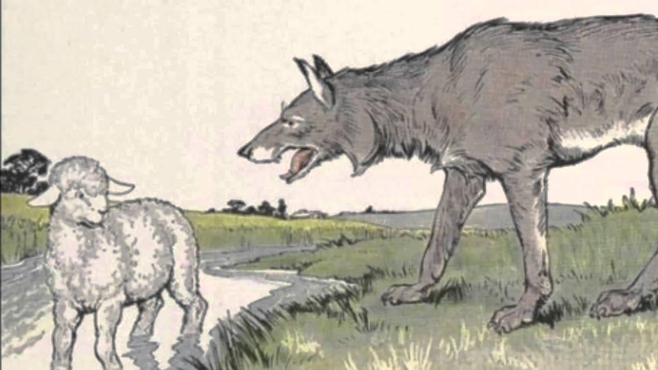 Resultado de imagem para imagens da fabula o lobo eo cordeiro