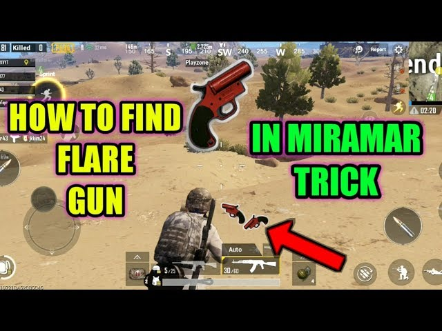 Best Trick To Find Flare Gun In Miramar Map Pubg Mobile:-)..
