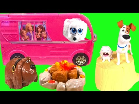 The Secret Life of Pets Go Camping! Toy Surprises, Blind Bags and Chocolate Egg Camp Ground