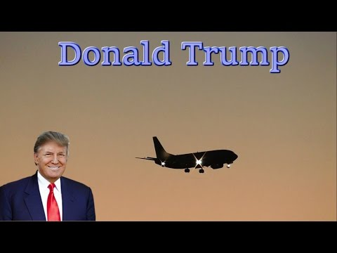 Donald Trump Jet Arriving For Last Minute Rally