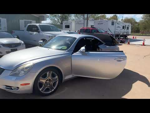 2006 Silver Lexus SC 430 Convertible (JTHFN48Y369) with an 4.3L V8 DOHC 32V engine, 6-Speed Automatic Overdrive transmission, located at 17760 Hwy 62, Morris, OK, 74445, (918) 733-4887, 35.609104, -95.877060 - Photo #0