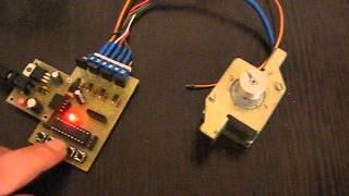 Контроллером для проверки шаговых двигателей