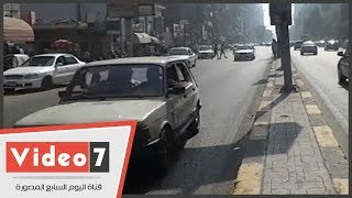 النشرة المرورية...تباطؤ حركة السيارات بطريق إسكندرية الزراعى والدائرى