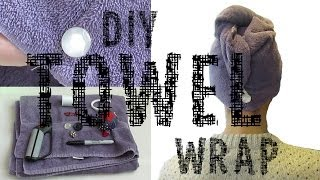 DIY Towel Wrap for Hair Thumbnail
