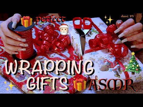 🎁 SUPER new TRIGGER! 😍 WRAPPING some GIFTS for Christmas! 🎄 Santa Claus is ME! 🎅🏻 🎧 Binaural ASMR 😴