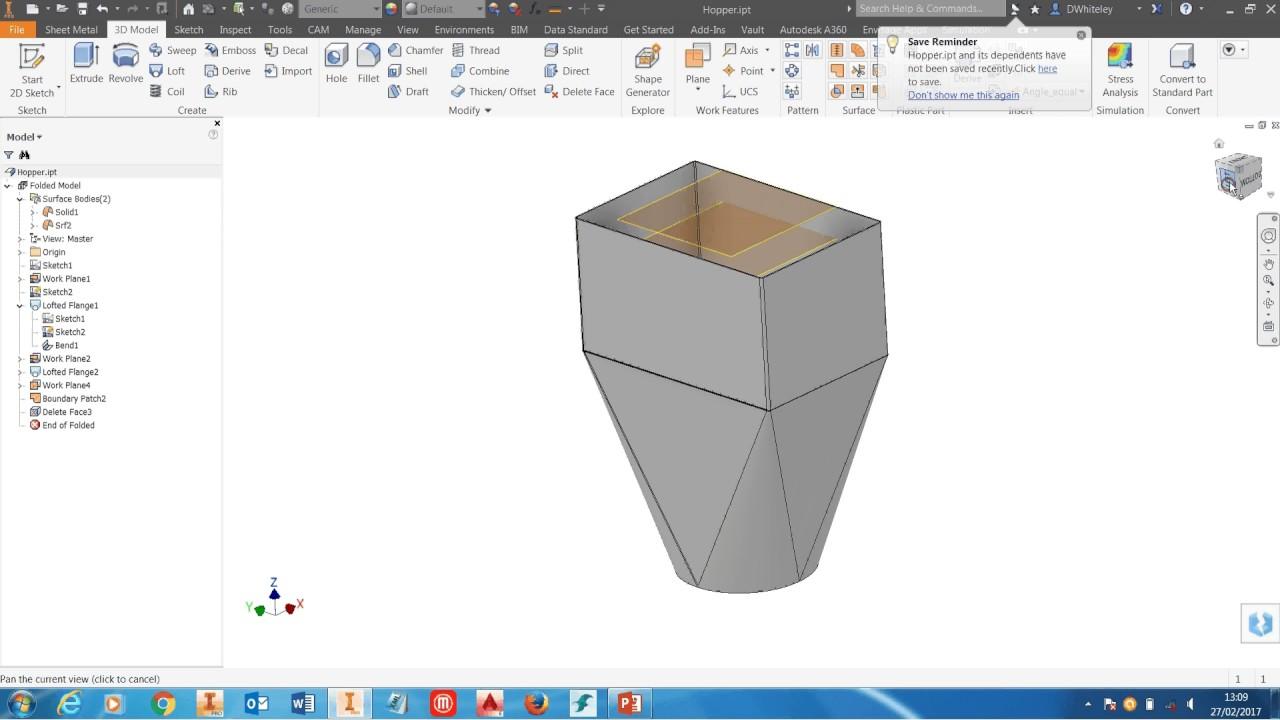 Autodesk Inventor Calculate Internal Volume Of A Hopper