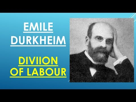 Sociology for UPSC : Durkheim - DIVISION OF LABOUR - Lecture 71