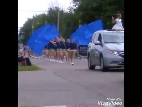 Teays valley high school marching band Kristens first parade color gaurd