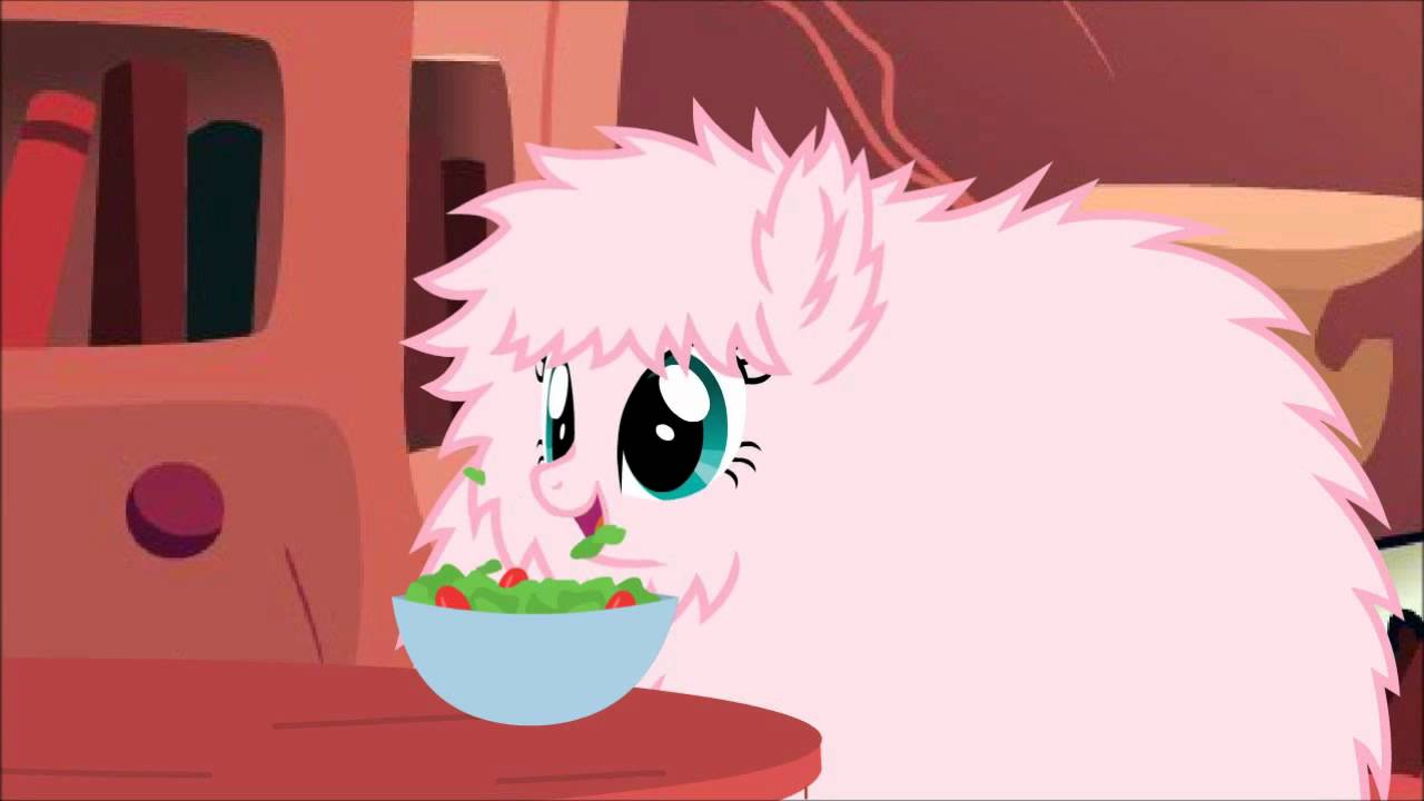 Cute Pink Glitter Wallpapers Fluffy Pony Eating Loop Youtube